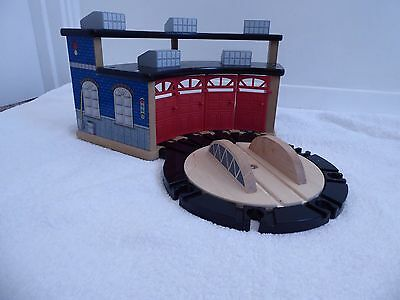 Large Wooden Train Set Elc & Brio Compatable