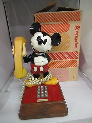 Vintage 1976 Mickey Mouse Push Button Telephone, 413-L