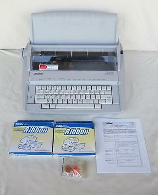 Brother Gx-6750 Daisy Wheel Electronic Typewriter With Supplies  And Manual