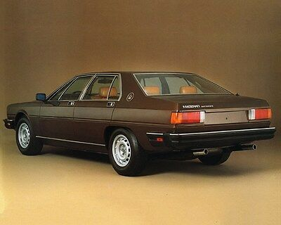 1979 Maserati Quattroporte III Factory Photo ca7228