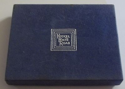 SEALED Vintage NICKEL RATE ROAD Double Deck PLAYING CARDS w/ STAMPS Railroad