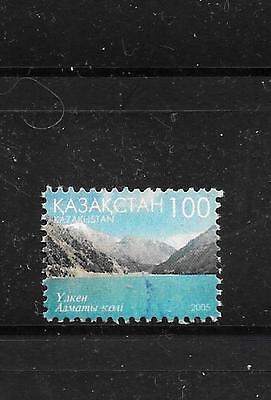 Kazakhstan Sc# 502 Postally Used Mountain Lake Definitive Stamp