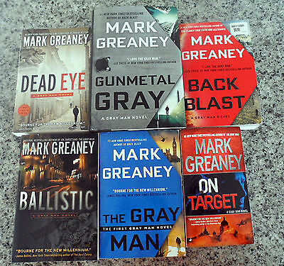 "ALL 6 ~ GRAY MAN Novels by MARK GREANEY Complete Set 1-6 ""COURT GENTRY"" SERIES"