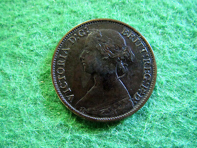 1865 Great Britain Farthing - Sharp Extra Fine - Free U S Shipping