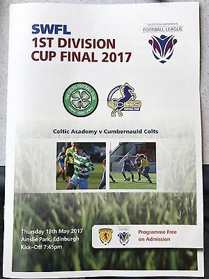 SWFL 1st Division Cup Final Celtic Academy v Cumbernauld Colts 18 May 2017