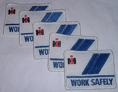 5 Vintage International harvester Mfg plant Employee shirt patches WORK SAFELY