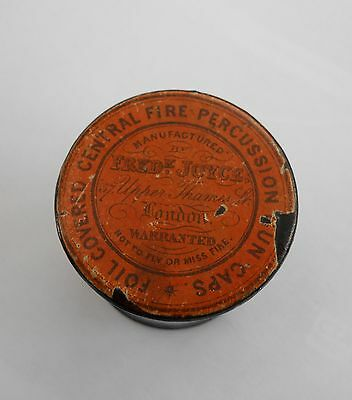Old Fred Joyce London Percussion Caps Tin Original