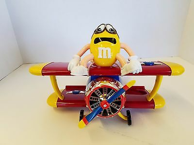 M&M'S AIRPLANE BI-PLANE BARNSTORMING RIDES CANDY DISPENSER YELLOW/RED character