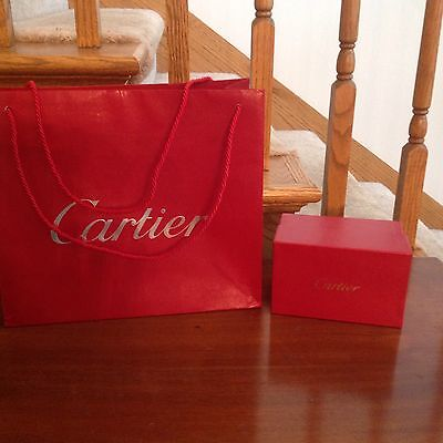 Set of two Cartier Gift Box and Gift Bag