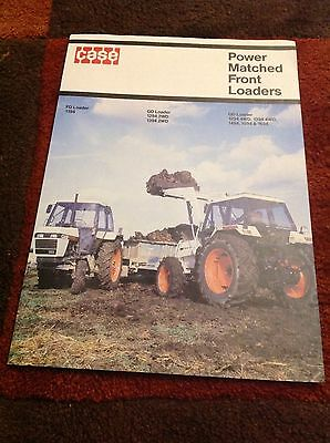 Case/David Brown 94 series FD GD QD Power Matched Front Loaders tractor brochure