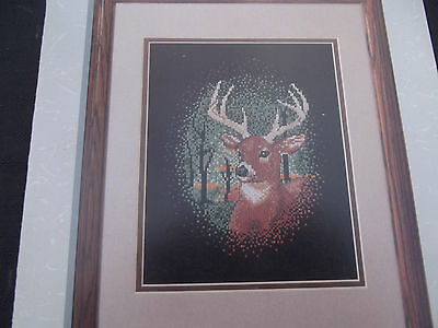 Stag / Deer -  Silent Watch  - Cross Stitch Chart by Color Charts