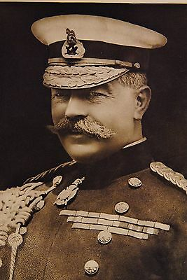 Real Photo PC Field Marshal Lord Kitchener  King Edwards Horse 2nd Division 1914
