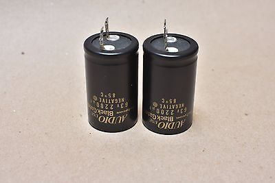 Rubycon Audio Black Gate FK 2200uF 63v HiEnd Electrolytic Capacitor Used Pair