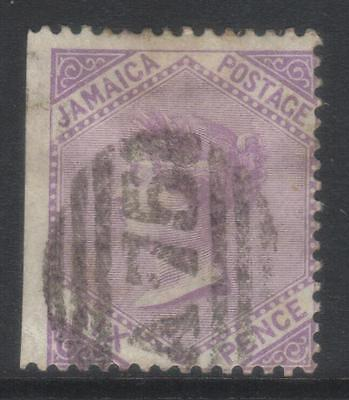 Jamaica 1870-1883 Crown Cc Sg12 Used 1 Side Imperf