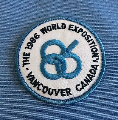 Expo 86 Patch Appears New Free Canada Shipping