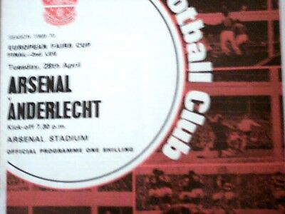 69/70 Arsenal V Anderlecht[European Fairs Cup Final 2Nd Leg.].