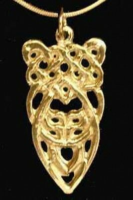 LOOK Silver Celtic Knot of Infinity Pendant Gold Plated
