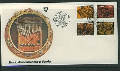 Venda 1981 - Musical Instruments First Day Cover.- Unaddressed