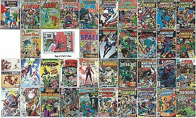 LOT of 40 COMIC BOOK COLLECTION (Silver, Bronze, Copper & Modern) GI Joe 3/bag