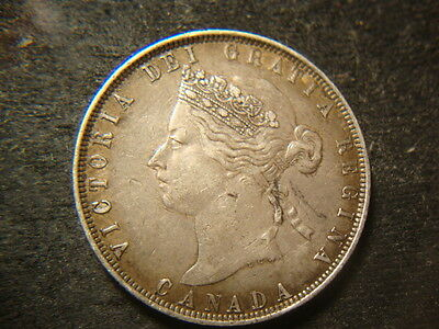 1872-H  XF Canada Fifty Cents Very Nice Original Coin MAR