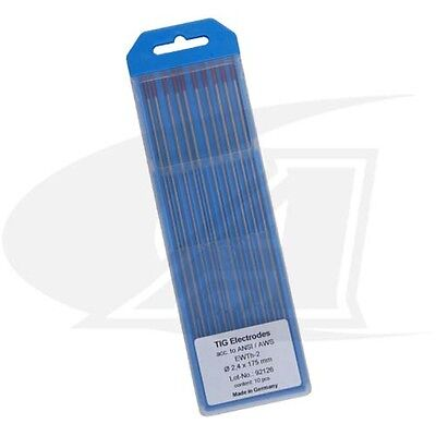 Wolfram 2% Thoriated Tungsten Electrodes Made In Germany: 3/32' (2.4mm)