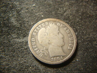 1894-O G VG  Full Rims Barber  Liberty Dime Very Nice LV