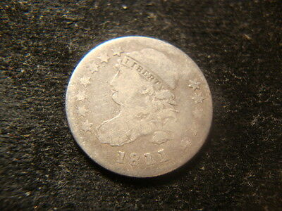 1811/0  Full Date Devices Capped Bust Dime MAR