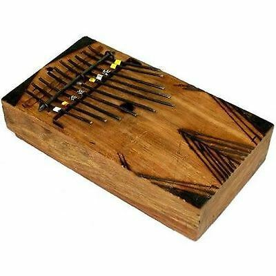 Large Kalimba Thumb Piano Fair Trade Handmade Kenya Artisan Jam Band Boho Decor