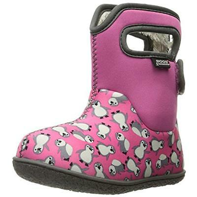 Bogs 8009 Girls Baby Penguins Pink Toddler Snow Boots Shoes 10 Medium (B,M) BHFO