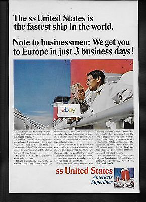 United States Lines  We Get Businessmen To Europe In 3 Biz Days Fastest Ship Ad