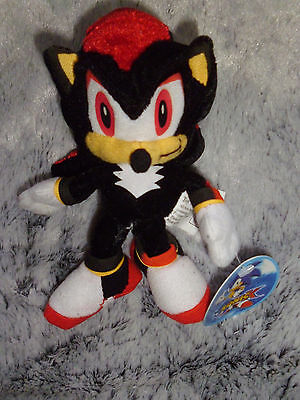 """Shadow Sonic X small plush black red stuffed Toy Network with tags 7"""" inch"""