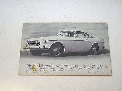 Volvo 1800 S GT Coupe Promo Card