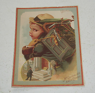 Victorian Trade Card – McLaughlin Coffee – Canadian Boy