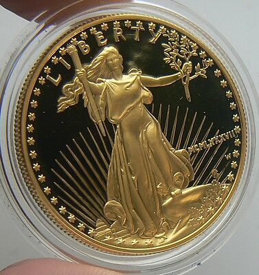 1987-W MCMLXXXVII $50 GOLD EAGLE COIN 1 OZ PROOF UNC in CAPSULE