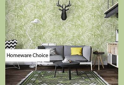 Tropical palm tree leaves fronds GREEN wallpaper Shop fitting Murals Wall paper