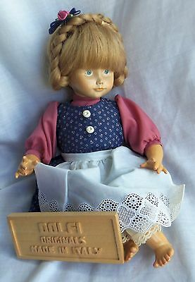 "Dolfi 12"" WOODEN Doll and Carved Sign, in Box, Wood, LE 500 pieces"