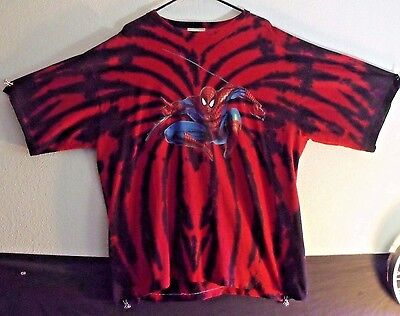 Signed By IRON MAIDEN RARE One of a Kind Marvel SpiderMan Tie Dye Shirt FREESHPG