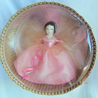 Ruth Gibbs doll PRINCESS IN PINK Godey's Little Lady, 1948, Original Round Box