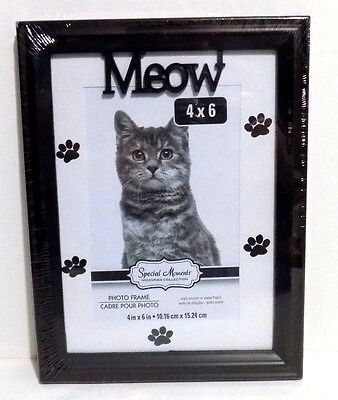 """MEOW  Picture Frame 4"""" x 6"""" ( NEW )"""