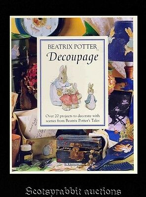 Unused Beatrix Potter Decoupage Book AND Scraps Scenes from Potter's Tales