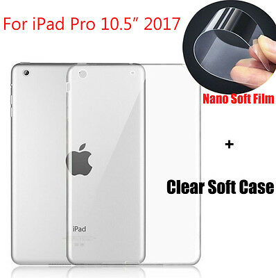 """Explosion-proof Soft Film + Shockproof TPU Rubber Case For iPad Pro 10.5"""" 2017"""