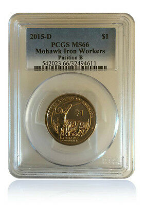 PCGS MS66 2015-D Sacagawea Native American Mohawk Iron Workers Dollar Position B