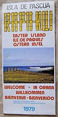 Chile Road Map Easter Island Isla de Pascua Ladeco Airlines