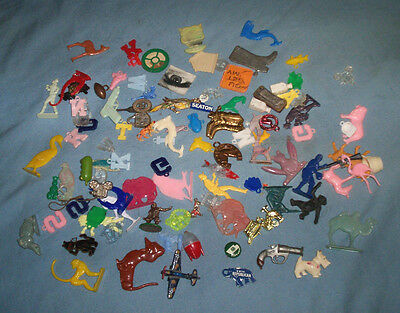 Lot of 100 Vintage Cracker Jacks and Gumball Machine Charms Cereal Toys