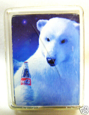 Deck of Miniature Playing Cards Coca-Cola Polar Bear 2010 With Plastic Case