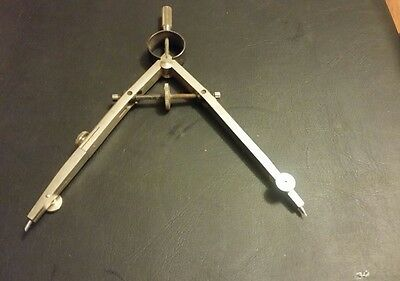 """Vintage Germany PICKETT 5 1/4"""" compass caliper for drafting industrial shop"""