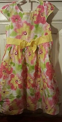 Gymboree girls size 8 multi-color foral BIRTHDAY, WEDDING, PARTY, SUMMER, dress