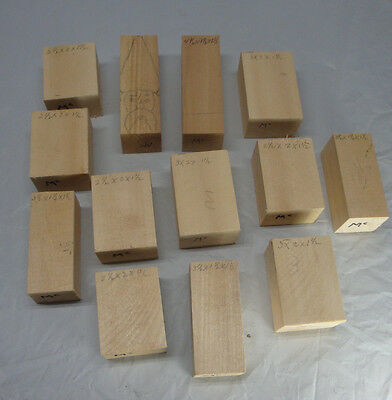 Wood Carving Blank Small  Blocks Started Not Finished