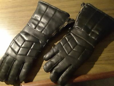 Women's ICON Black Motorcycle Riding Gloves Size M