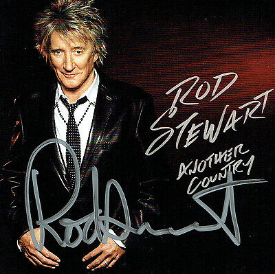 Rod Stewart Hand Signed Autographed Another Country CD Album Booklet - Complete
